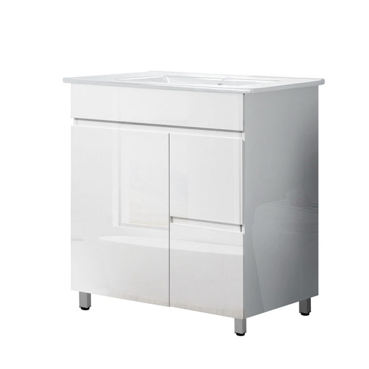Cefito Bathroom Vanity Cabinet Unit Wash Basin Sink Storage Freestanding 750mm - HomeOutdoorsDirect