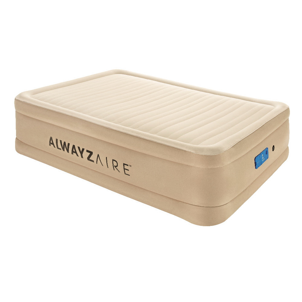 Bestway Air Bed Inflatable Mattress Fortech Built-in AC Pump Home Sleeping - HomeOutdoorsDirect