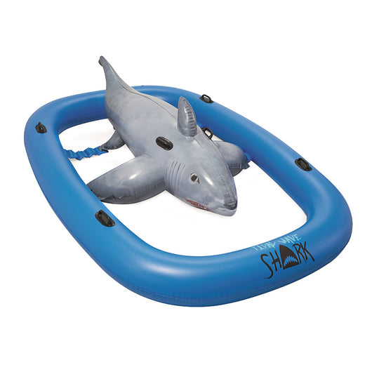 Bestway 3.1m Inflatable Pool Floating Raft Bull Riding Toy Raft Float Play Pool - HomeOutdoorsDirect