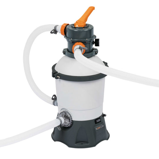 Bestway 530GPH Flowclear Sand Filter Swimming Above Ground Pool Cleaning Pump - HomeOutdoorsDirect