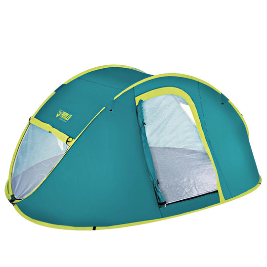 Bestway Family Camping Tent Pop Up 4 Person Canvas Hiking Outdoor Beach Tent - HomeOutdoorsDirect