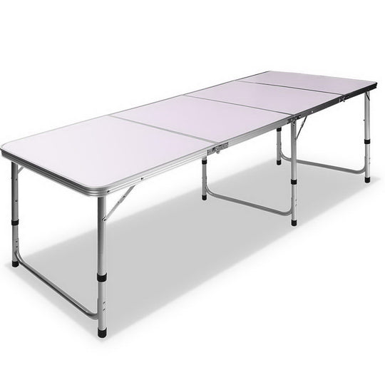 Portable Folding Camping Table 240cm - HomeOutdoorsDirect