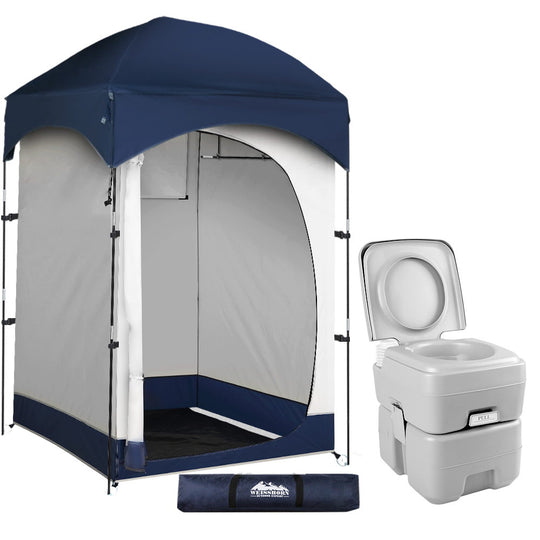 WEISSHORN 20L Outdoor Portable Toilet Camping Shower Tent Change Room Ensuite - HomeOutdoorsDirect