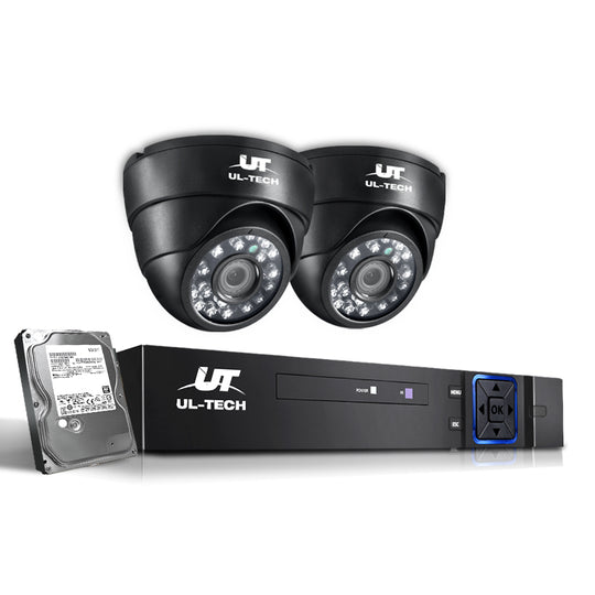 UL-Tech CCTV Security System 2TB 4CH DVR 1080P 2 Camera Sets - HomeOutdoorsDirect