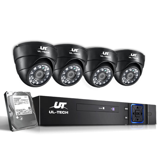 UL-Tech CCTV Security System 2TB 4CH DVR 1080P 4 Camera Sets - HomeOutdoorsDirect