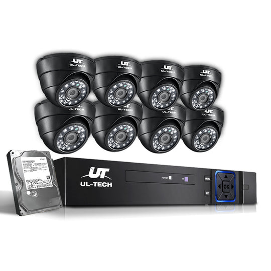 UL-Tech CCTV Security System 2TB 8CH DVR 1080P 8 Camera Sets - HomeOutdoorsDirect