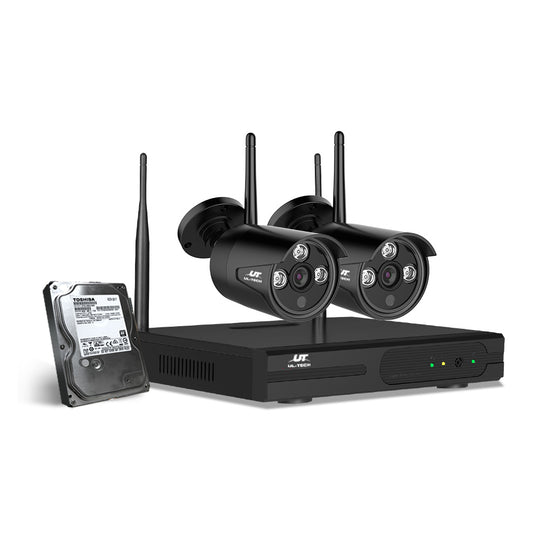 UL-Tech CCTV Wireless Security System 2TB 4CH NVR 1080P 2 Camera Sets - HomeOutdoorsDirect