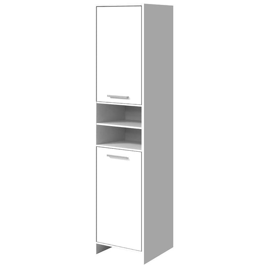 Artiss 185cm Bathroom Tallboy Toilet Storage Cabinet Laundry Cupboard Adjustable Shelf White - HomeOutdoorsDirect