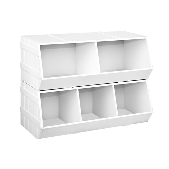 Artiss Kids Toy Storage Box - White - HomeOutdoorsDirect