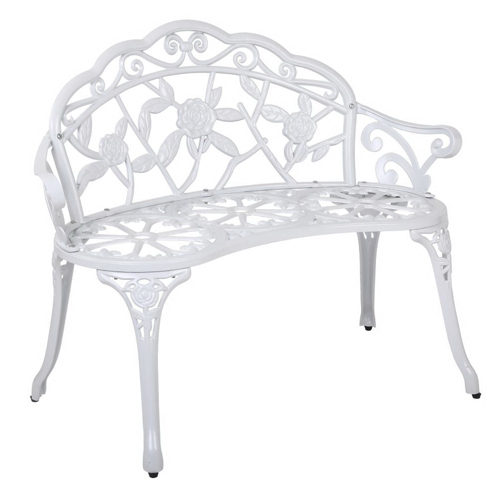 Gardeon Victorian Garden Bench  White