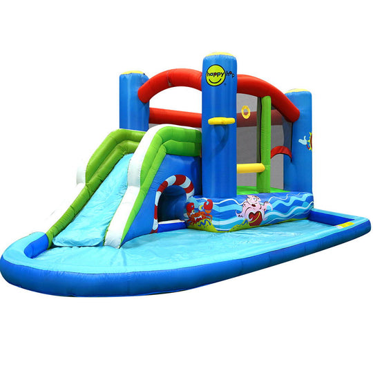 Happy Hop Inflatable Water Jumping Castle Bouncer Kid Toy Windsor Slide Splash - HomeOutdoorsDirect