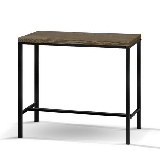 Artiss Vintage Industrial High Bar Table for Stool Kitchen Cafe Desk Dark Brown - HomeOutdoorsDirect