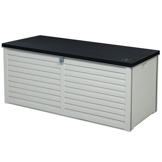Gardeon Outdoor Storage Box Bench Seat Toy Tool Sheds 390L - HomeOutdoorsDirect
