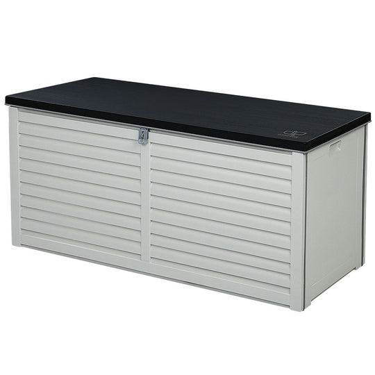 Gardeon 490L Outdoor Storage Box Bench Seat Toy Tool Sheds Chest - HomeOutdoorsDirect