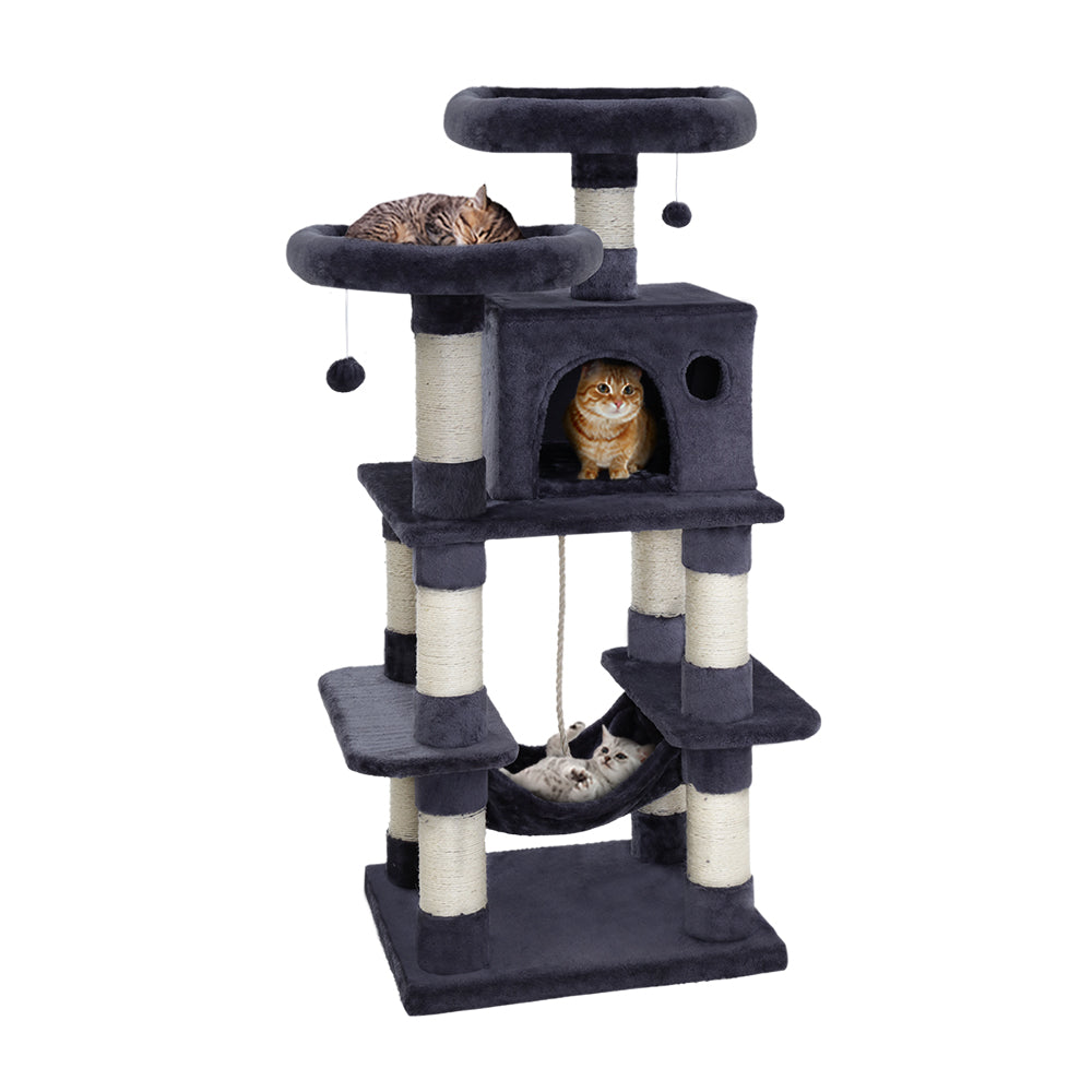 i.Pet Cat Tree Trees Scratching Post Scratcher Tower Condo House Furniture Wood - HomeOutdoorsDirect