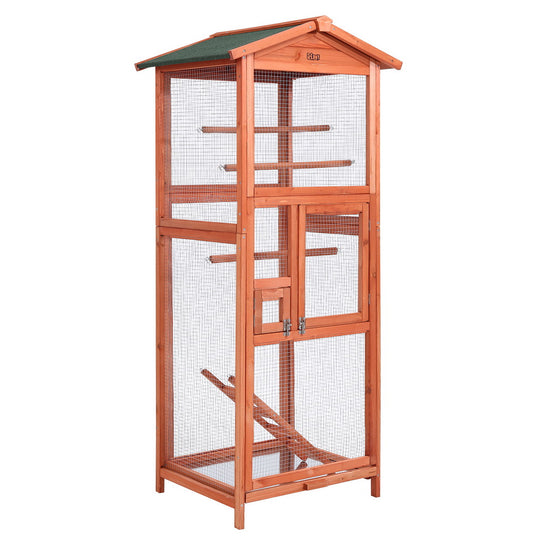 i.Pet Bird Cage Wooden Pet Cages Aviary Large Carrier Travel Canary Cockatoo Parrot XL - HomeOutdoorsDirect