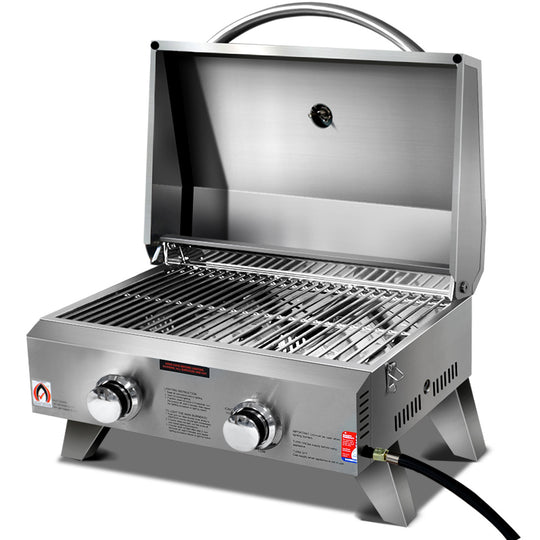 Grillz Portable 2 Burner Gas BBQ - HomeOutdoorsDirect