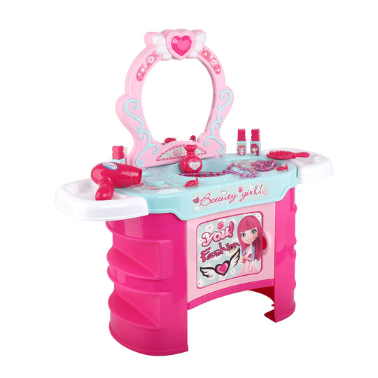 Keezi Kids Makeup Desk Play Set - Pink - HomeOutdoorsDirect