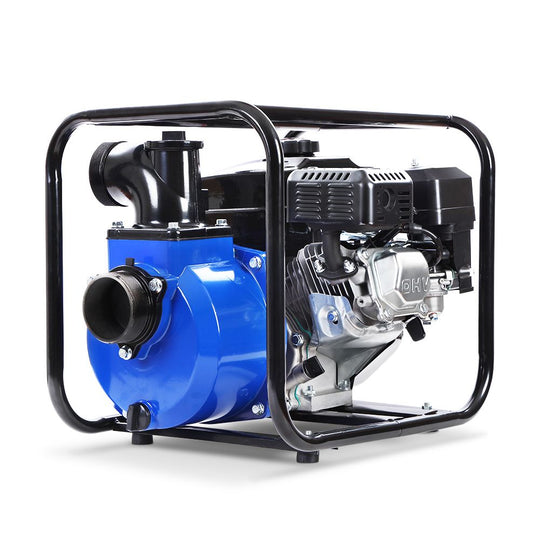 "Giantz 8HP 3"" Petrol Water Pump Garden Irrigation Transfer Blue - HomeOutdoorsDirect"