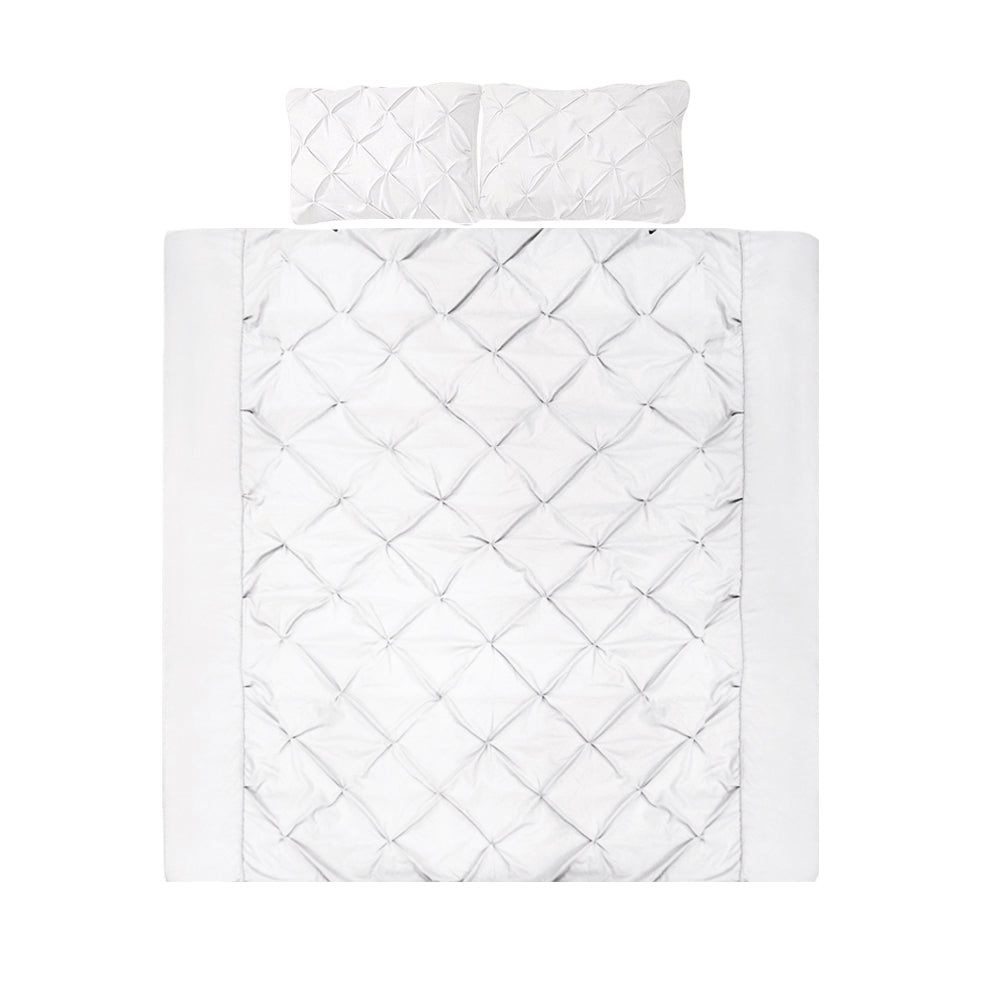 Giselle Bedding Queen Size Quilt Cover Set - White