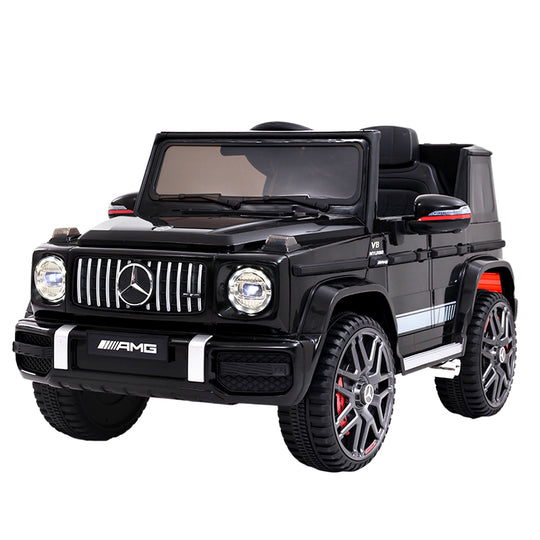 Mercedes-Benz Kids Ride On Car Electric AMG G63 Licensed Remote Cars 12V Black - HomeOutdoorsDirect