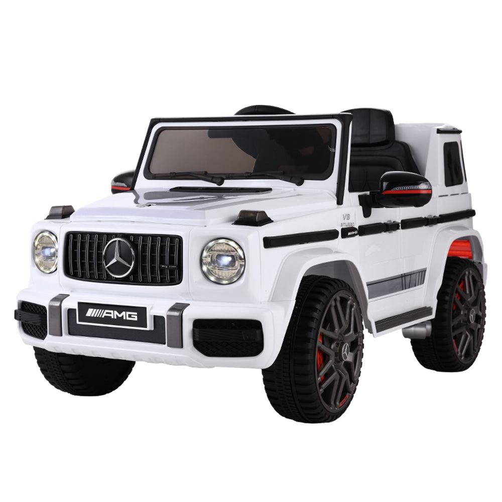 Mercedes-Benz Kids Ride On Car Electric AMG G63 Licensed Remote Cars 12V White - HomeOutdoorsDirect