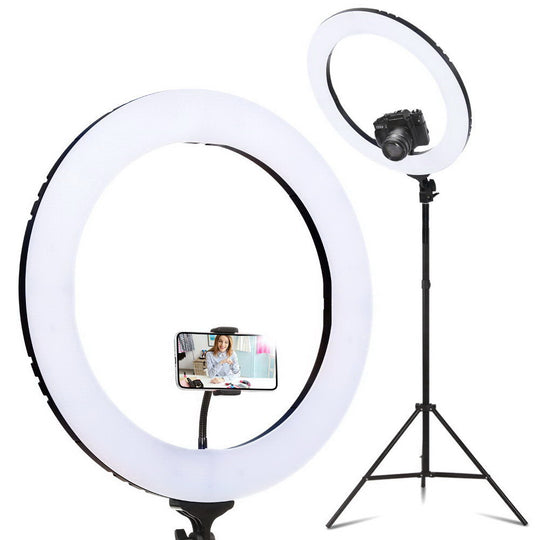 "19"" LED Ring Light 6500K 5800LM Dimmable Diva With Stand Make Up Studio Video - HomeOutdoorsDirect"