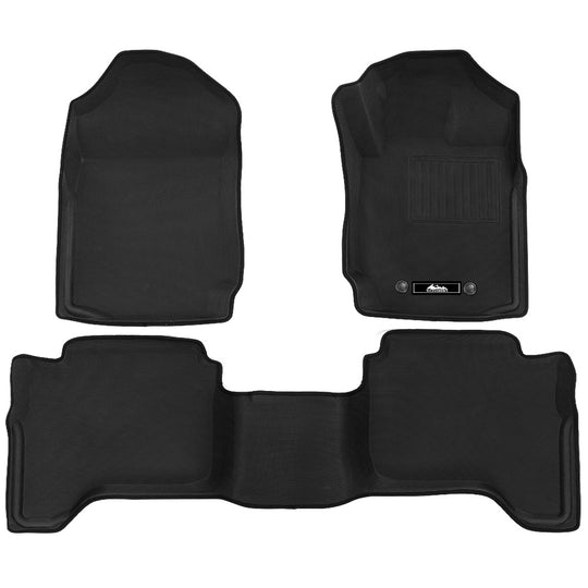 Weisshorn Ford Ranger Car Floor Mats PX PX2 PX3 Dual Cab 2011-2019 3D Rubber - HomeOutdoorsDirect