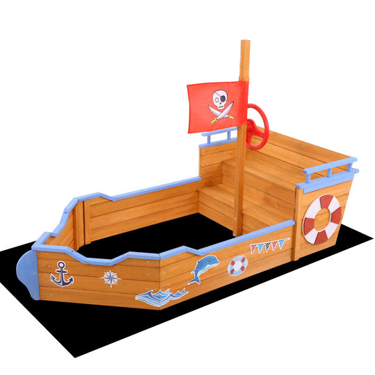 Keezi Boat Sand Pit - HomeOutdoorsDirect