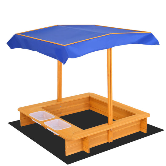 Keezi Outdoor Canopy Sand Pit - HomeOutdoorsDirect
