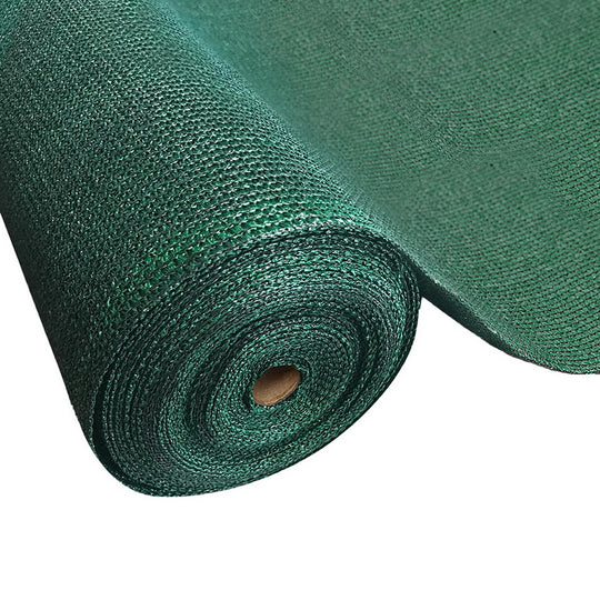 Instahut 50% Sun Shade Cloth Shadecloth Sail Roll Mesh 3.66x10m 100gsm Green - HomeOutdoorsDirect