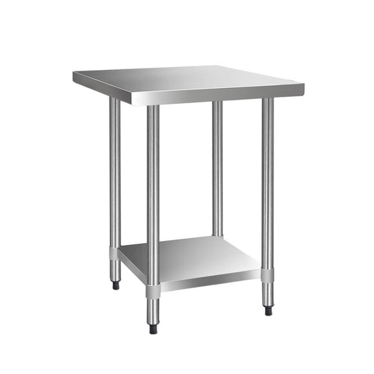Cefito 762 x 762mm Commercial Stainless Steel Kitchen Bench - HomeOutdoorsDirect