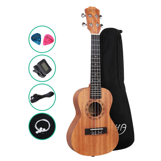 ALPHA 23 Inch Concert Ukulele Mahogany Ukeleles Uke Hawaii Guitar - HomeOutdoorsDirect