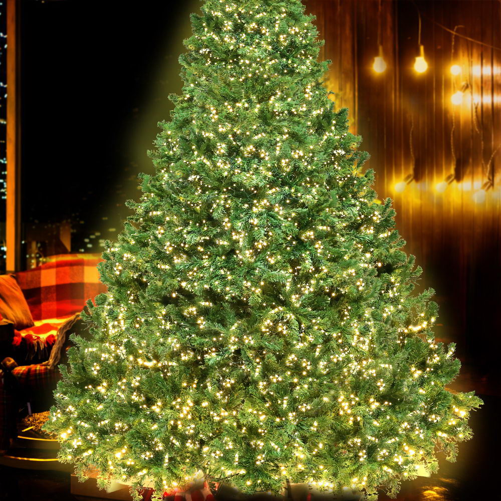 Jingle Jollys 2.4M 8FT Christmas Tree Xmas 3190 LED Lights Warm White 1436 Tips - HomeOutdoorsDirect