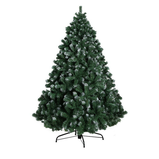 Jingle Jollys 8FT Christmas Snow Tree - HomeOutdoorsDirect