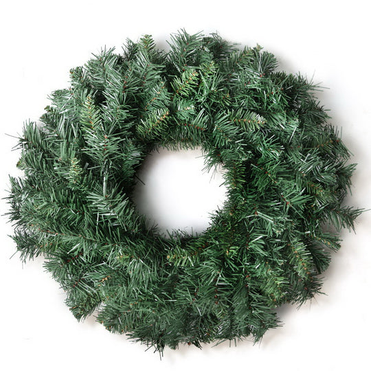 Jingle Jollys 60cm Christmas Wreath - Green - HomeOutdoorsDirect