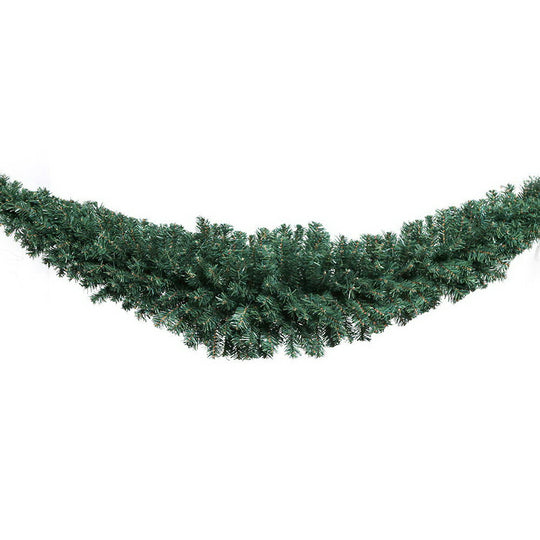Jingle Jollys 6FT Christmas Garland - Green - HomeOutdoorsDirect