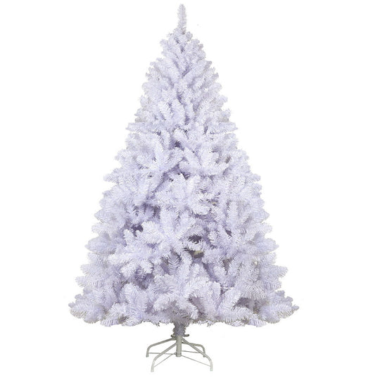 Jingle Jollys 8FT Christmas Tree - White - HomeOutdoorsDirect
