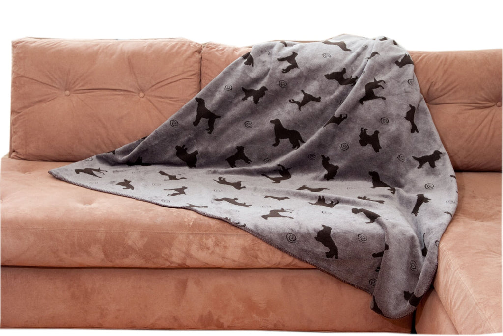 Plush Embossed Tossed Dog Throw