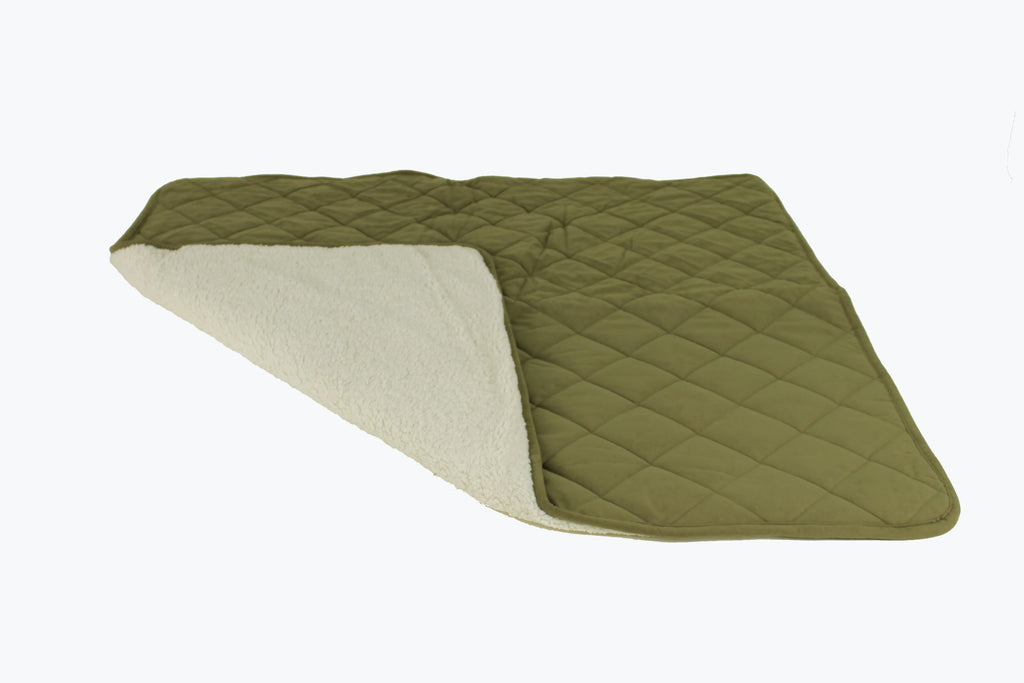 Diamond Quilt Microfiber & Cloud Sherpa Blanket Throw Sage