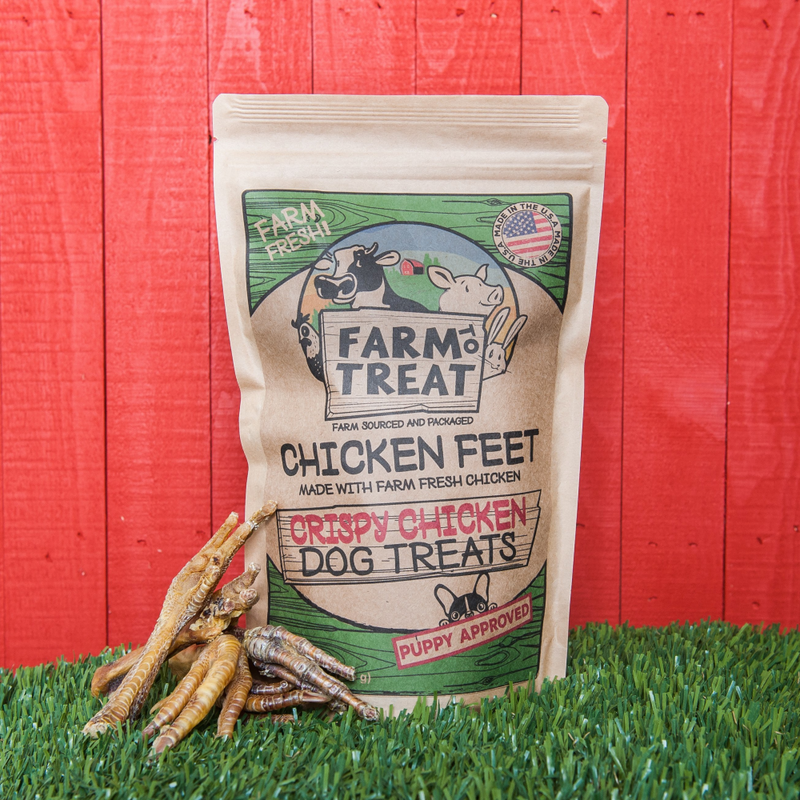 Farm-Raised Chicken Feet Raw Diet Friendly Dog Treats