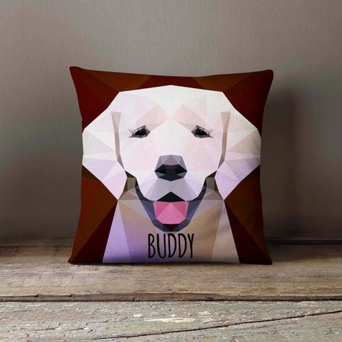 Geometric Labrador Dog Pillowcase (Personalize)