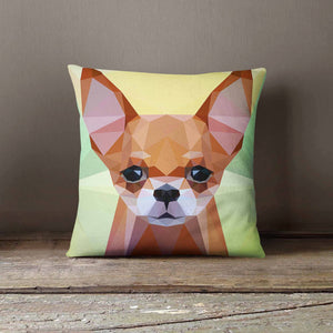 Geometric Chihuahua Dog Pillowcase (Personalize)