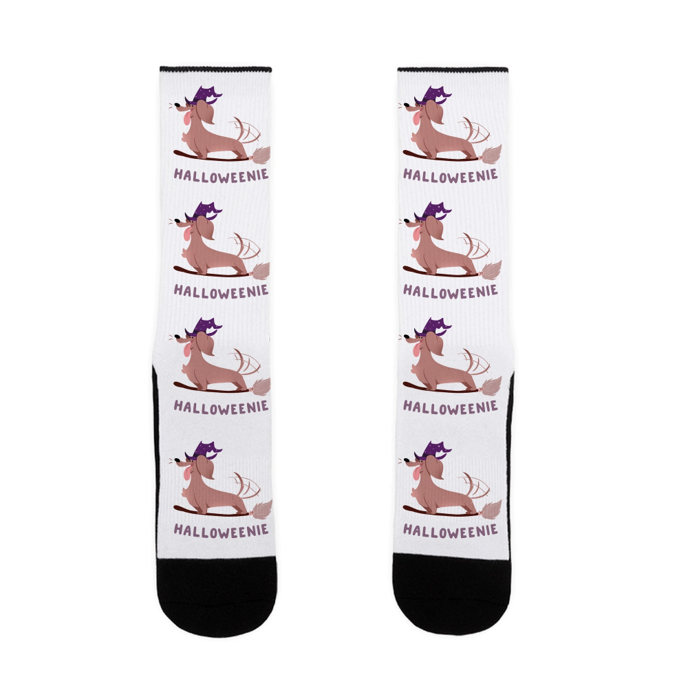 A Halloweenie Dachshund Dog Designer Mens Socks