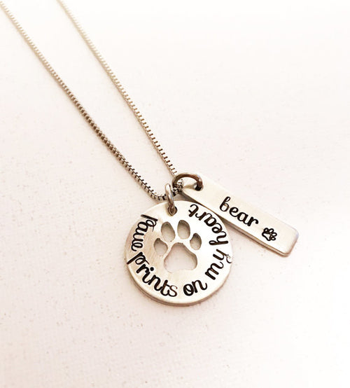Hand Stamped Pet Loss Necklace (Personalize)
