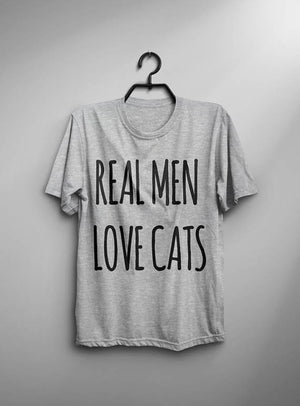 Real Men Love Cats Mens Tee
