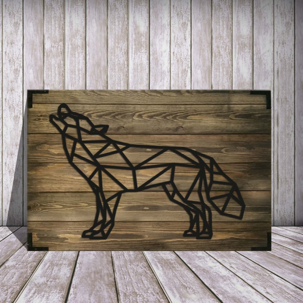 Husky Wolf Dog Wooden Wall Art