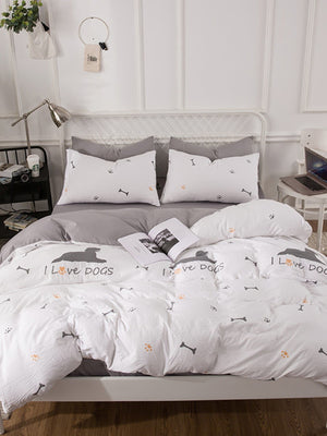 Letter & Dog Print Sheet Set
