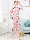 Dog & Letter Print Pajama Set