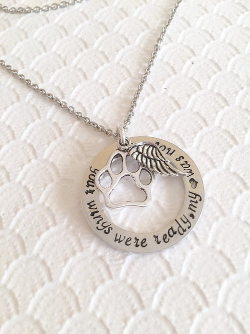 Hand Stamped Pet Loss Necklace